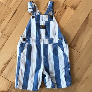 Striped Osh Kosh overalls
